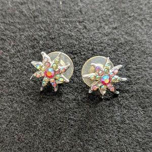 Starburst post earrings